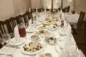 Banket stůl v restauraci