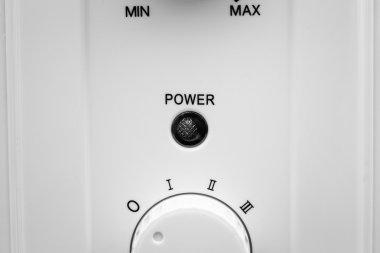 power control knob. Adjusting from minimum to maximum