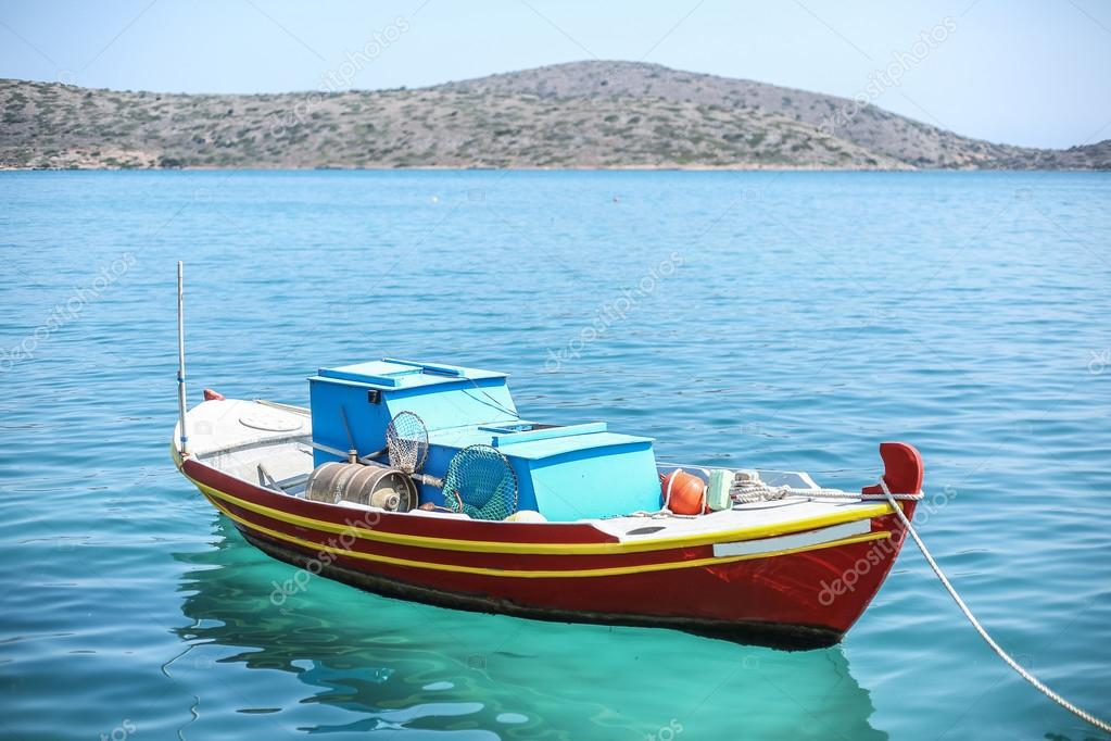 Fishing boats on the Elounda coast of The Crete.