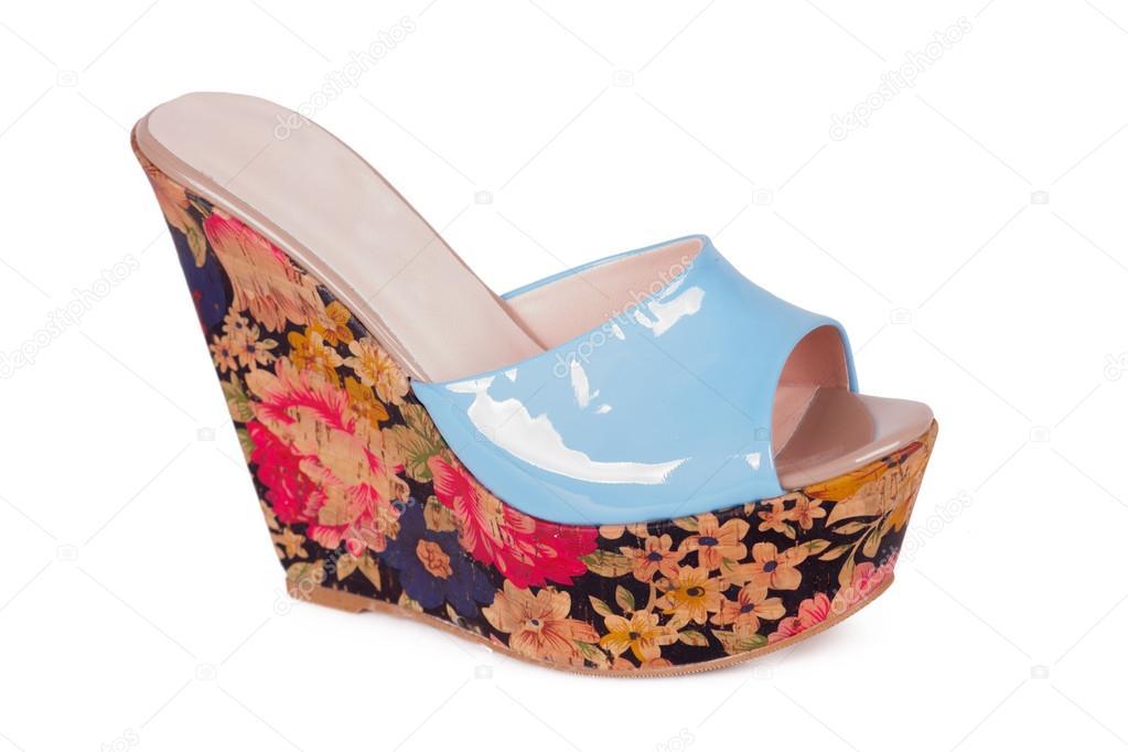4c93ce8f2d8b2f Красиві високий каблук жінок літні туфлі ізольовані на білому– стокове  зображення