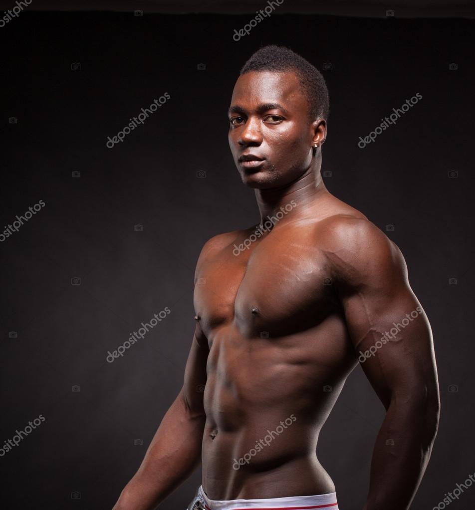 einzelne schwarze männliche Athleten
