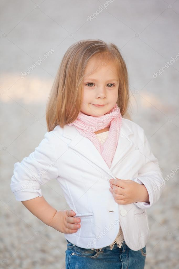 image trendy baby. Beautiful Trendy Baby Girl With Blonde Hair Outdoors. Little 2-3 Year Old \u2014 Photo By Margo_black Image