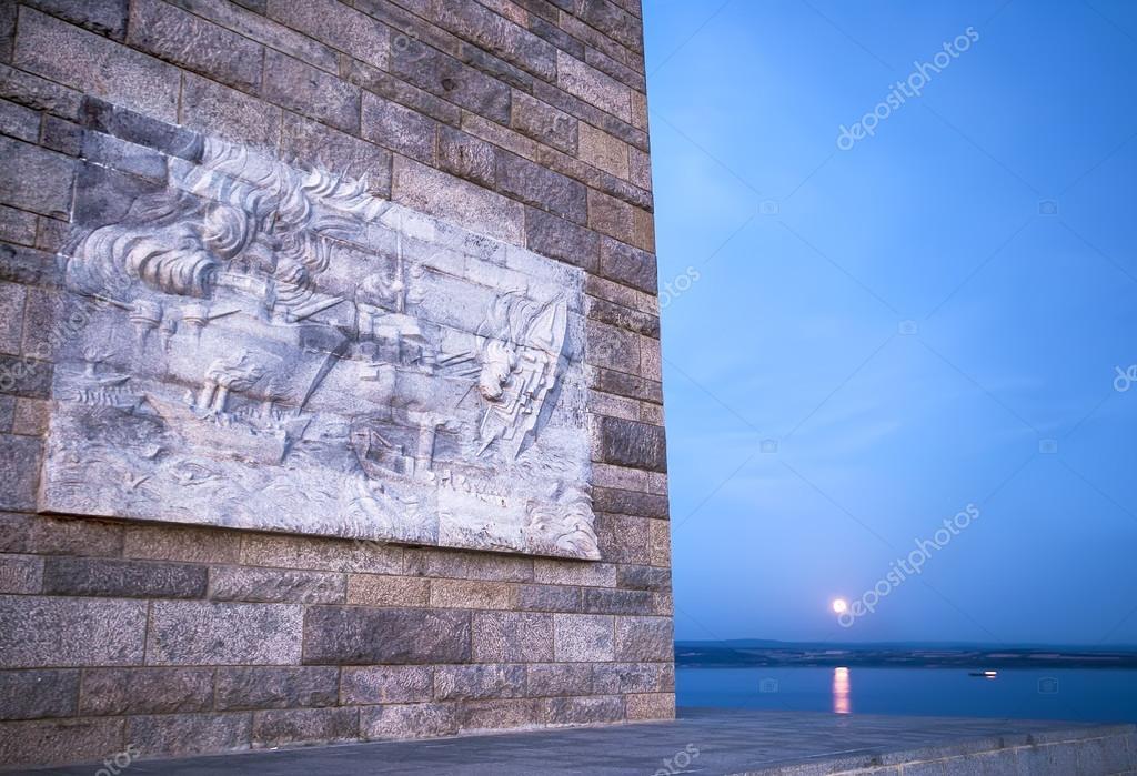 çanakkale şehitler Anıtı Ayın Doğuşu Ile Gece Bir Detay Stok Foto