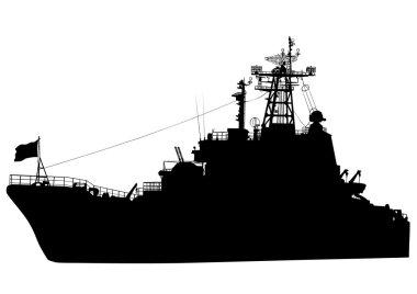 War boat on white background