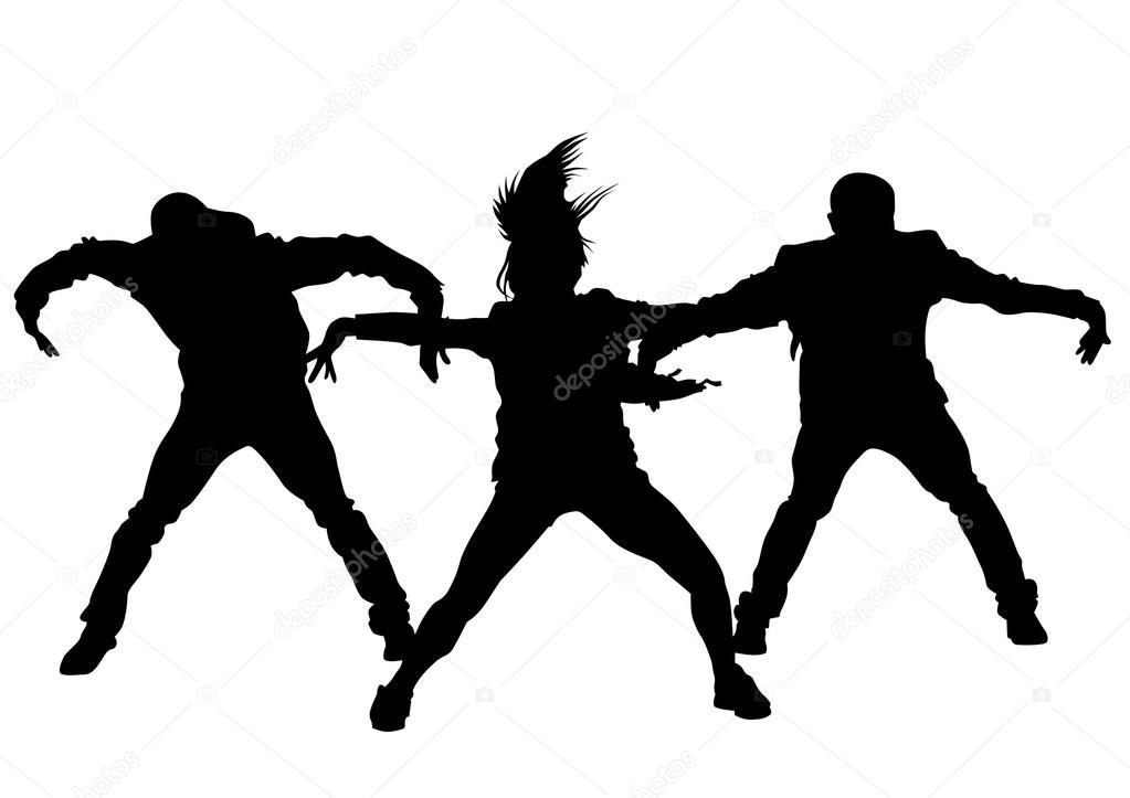 Chicas y chicos de hip-hop — Vector de stock © grynold #112318616
