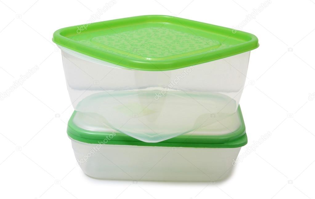 due contenitori di plastica per alimenti — foto stock © grynold