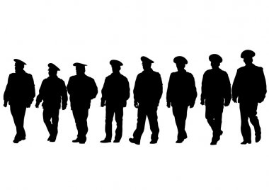 Police men on white background