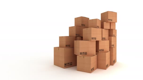 Brown cardboard boxes