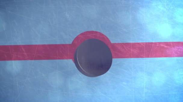 Hokejový puk připadá na ledové pole