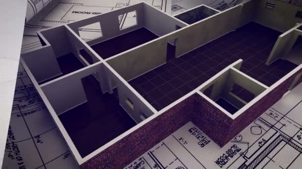 Construction Of Apartment With Plans U2014 Stock Video
