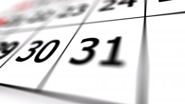 Az utolsó nap naptár december hónapban.