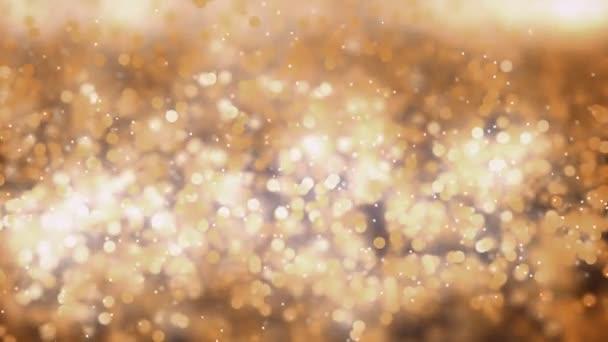 Zpomalený pohyb Animace zlatého prachu s extrémně mělkou hloubkou pole.