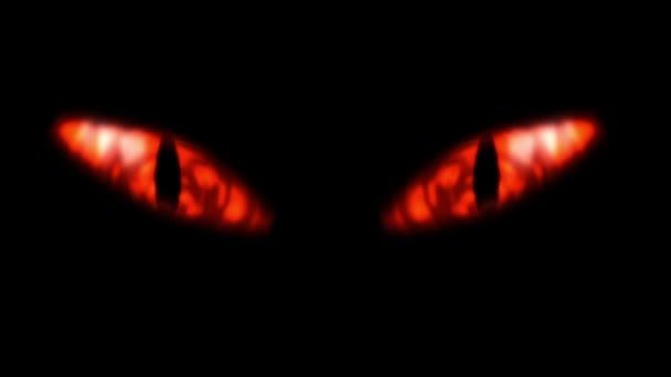 Evil looking fiery eyes