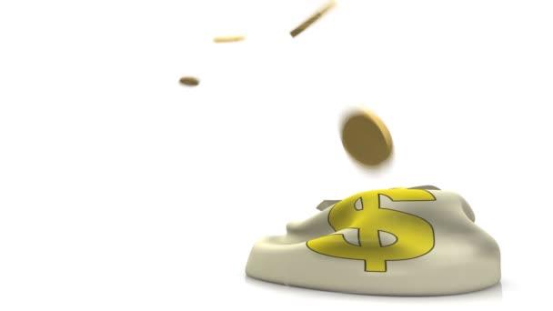 Létající mince peníze