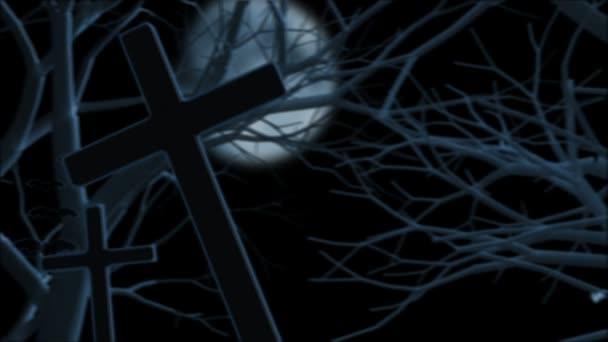 Halloween tök a temetőben
