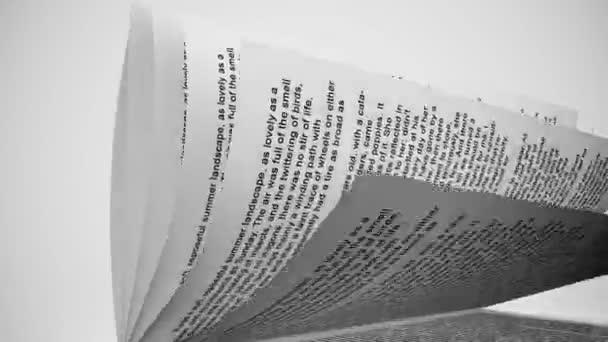 Bílá kniha stránky otáčení
