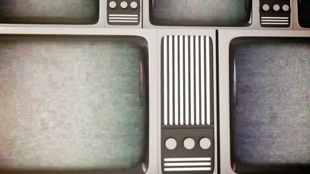 retro tv-képernyők, a statikus
