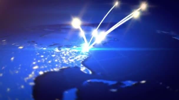 Internet-Konzept des globalen Geschäfts.