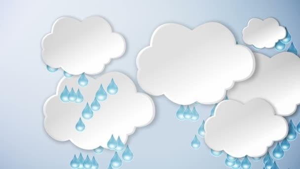 Felhők és az eső és a nap