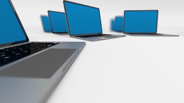 Spinnende elektronische Laptops