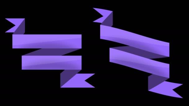 Animované retro pásky a štítky