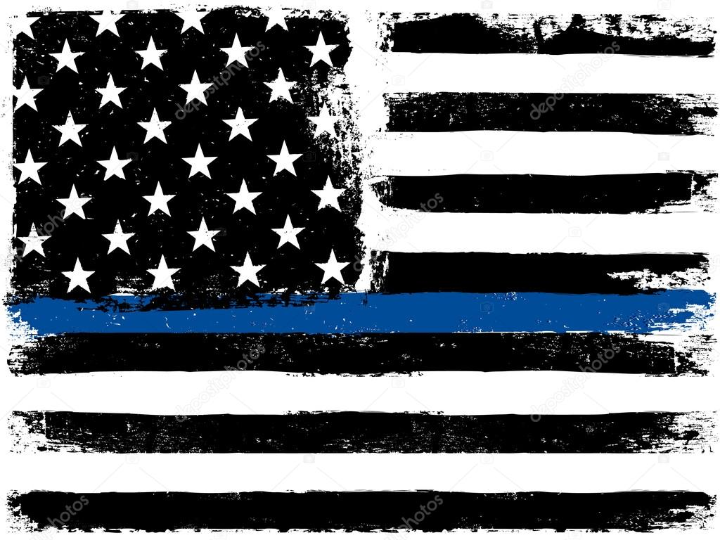 Thin Blue Line American Flag Wallpaper American Flag With Blue