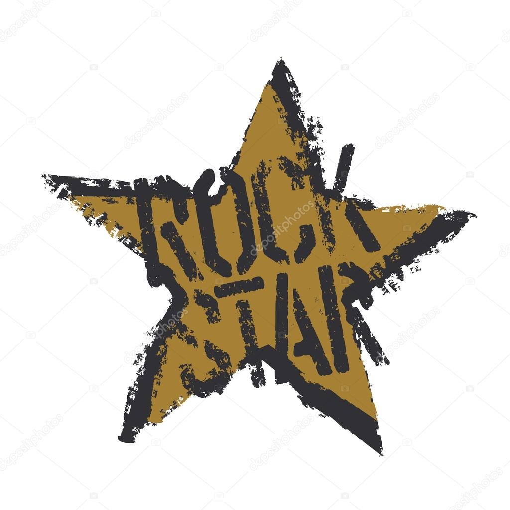 Rockstar Grunge Symbol Design Stock Vector Pashabo 105254294