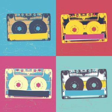 retro popart music seamless background.