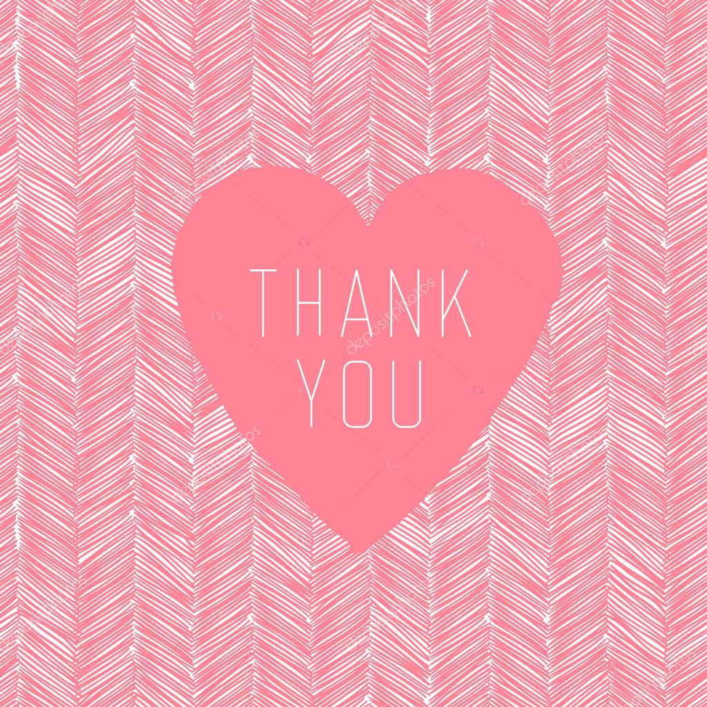 Gracias tarjeta con corazón etiqueta — Vector de stock © pashabo ...