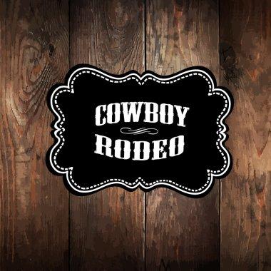 Wild west styled label