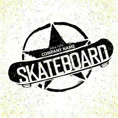 Vintage Skateboard Logotype.