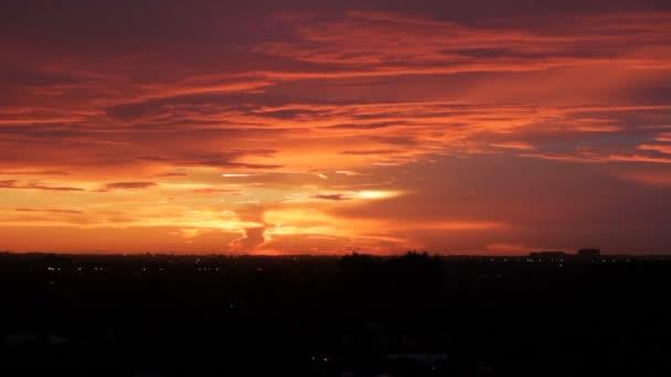 Červené oranžové slunce Fort Lauderdale