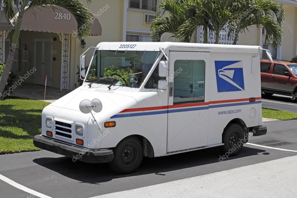 United States Postal Service Truck Stock Editorial Photo