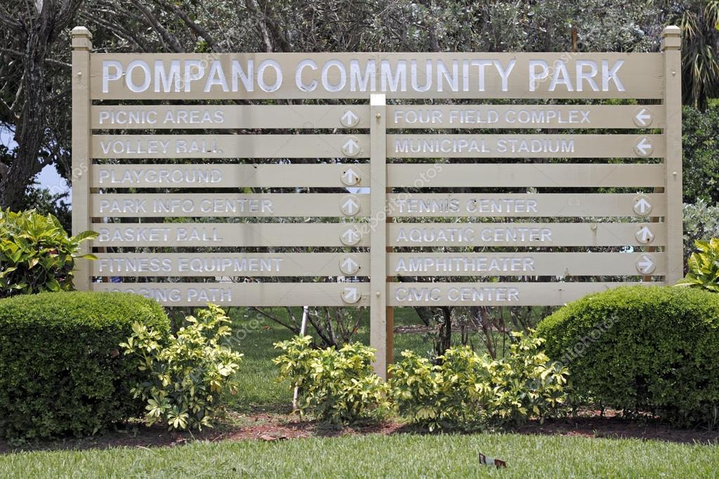 Pompano Community Park Sign