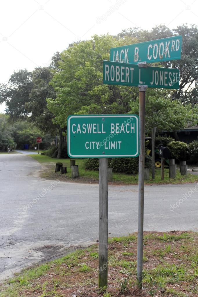Caswell Beach City Limit Signs