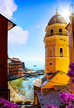 art View of Romantic Seascape in Vernazza, Cinque Terre, Liguria