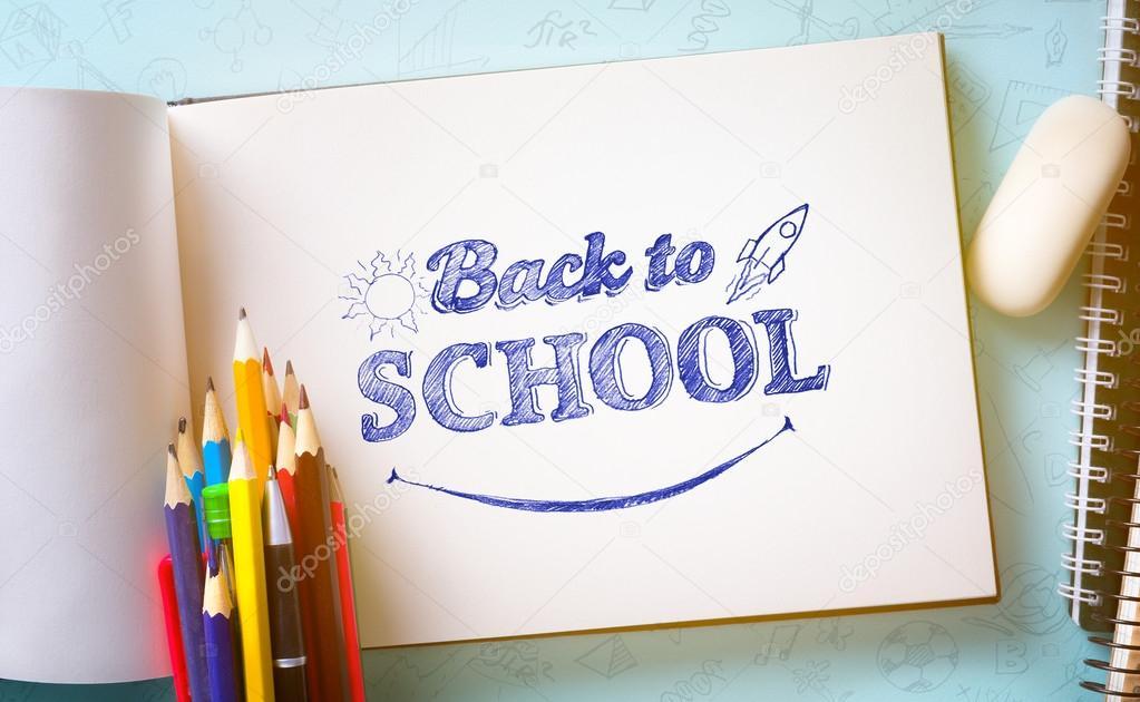 Art welcome back to school banner school supplies tumblr u stock