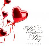 art red  hearts on white, valentines day concept