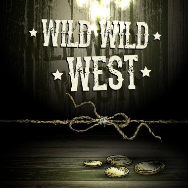 Theme WILD WEST, abstract background