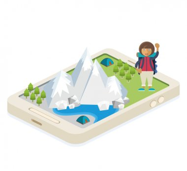 Mobile app for traveling and camping