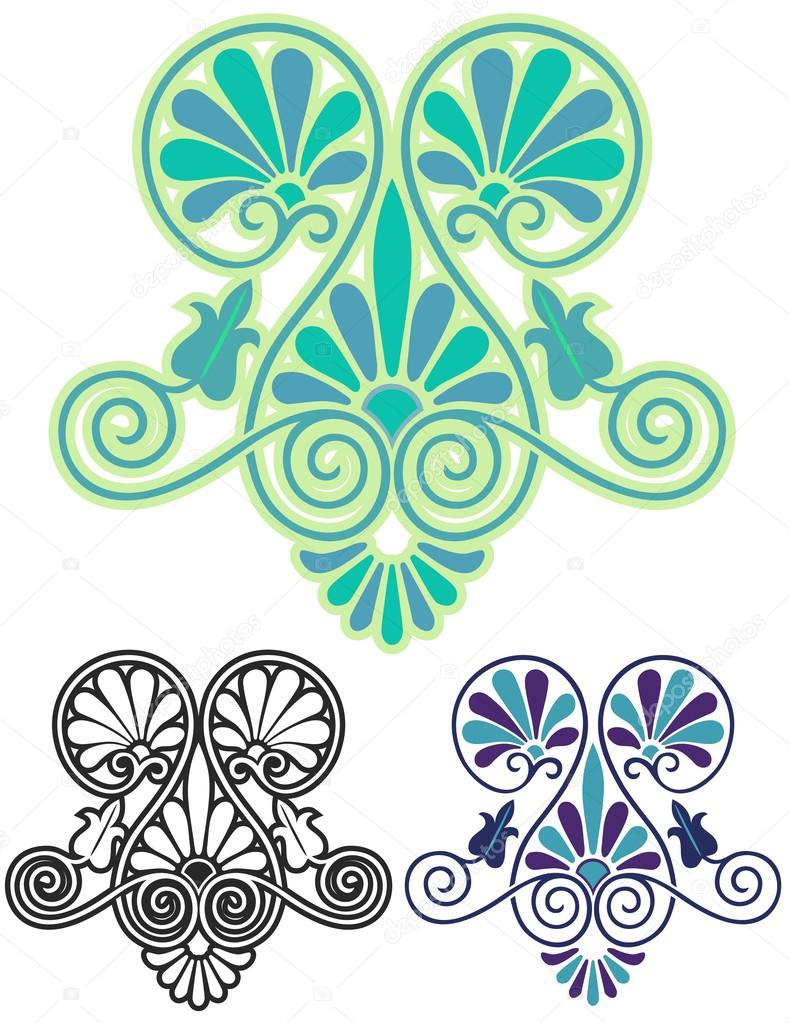 Art Nouveau Decorative Motif Stock Vector