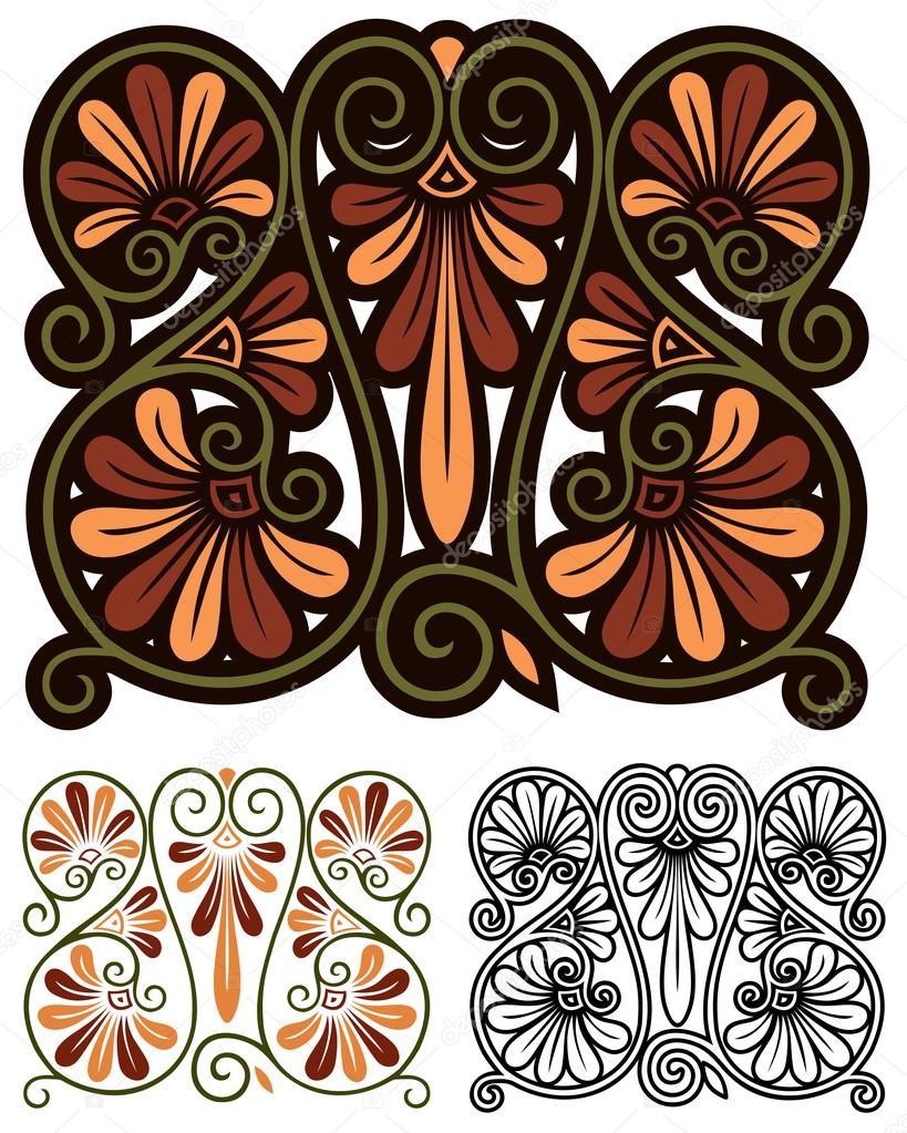 abstract art nouveau motif — Stock Vector © Therealdarla #102573648