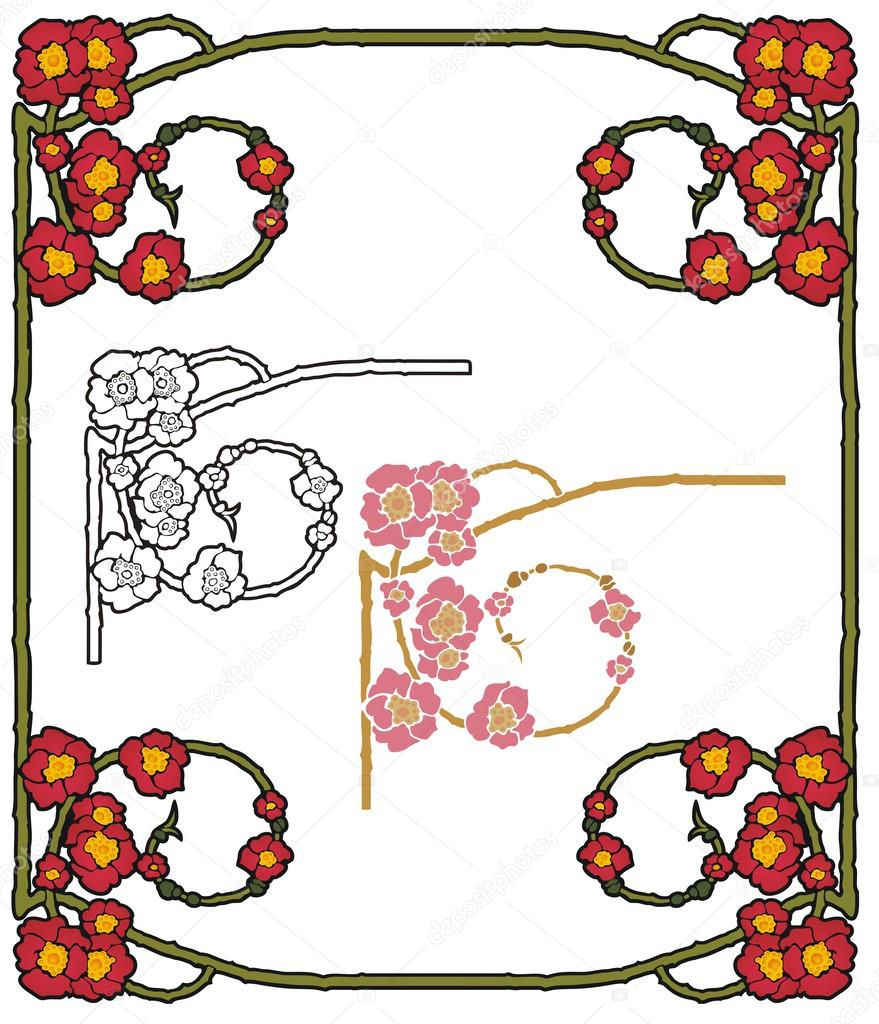 Fantasy poppy border
