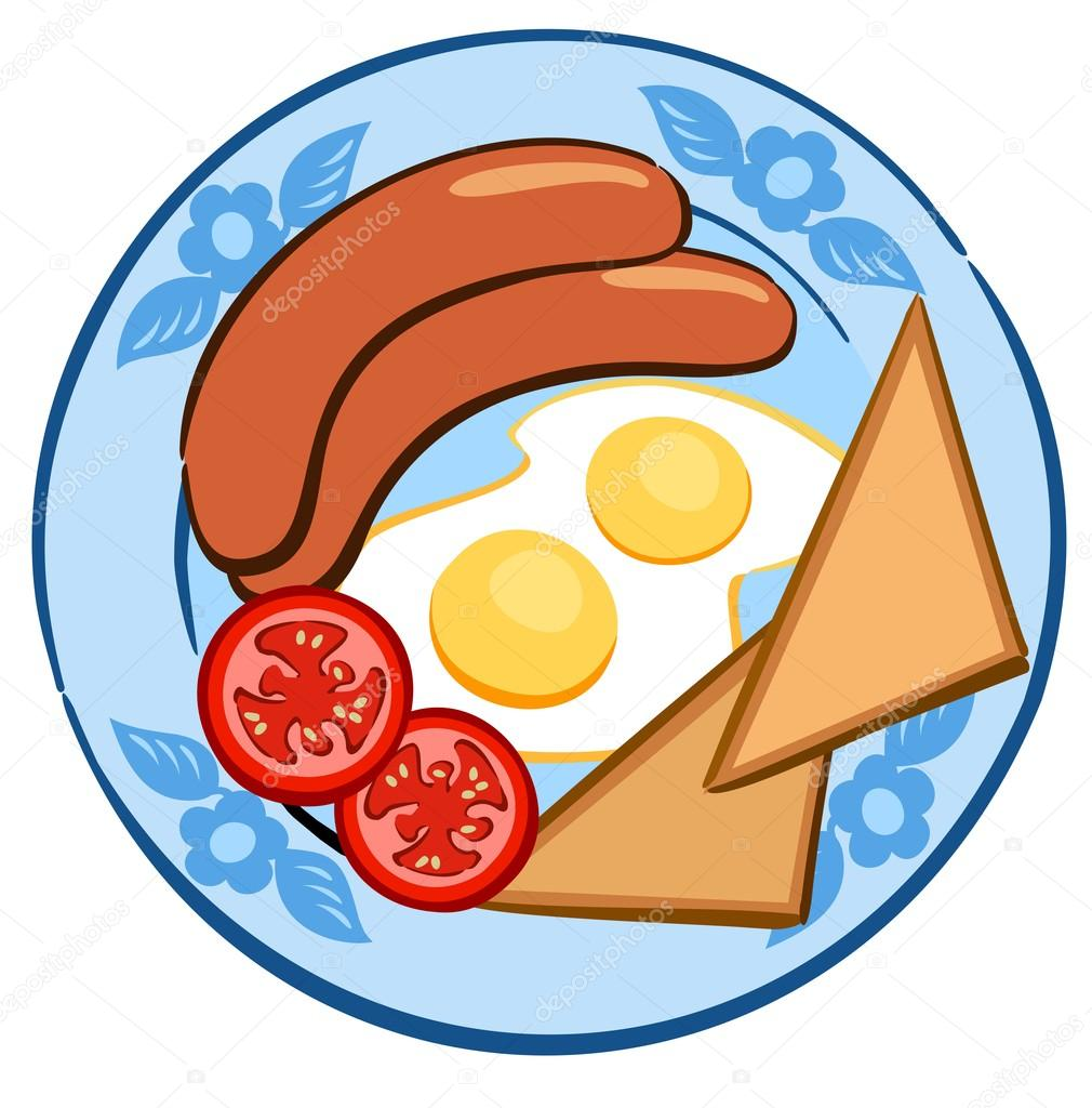 Breakfast Plate With Tomatoes Stock Vector C Therealdarla 94553852