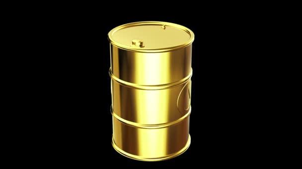 Το βαρέλι πετρελαίου χρυσό με πτώση εικονίδιο — Αρχείο Βίντεο ... 60062ad54e2