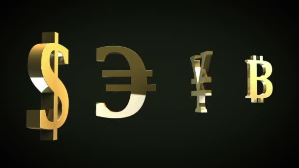 Hlavní měny symboly a Bitcoins