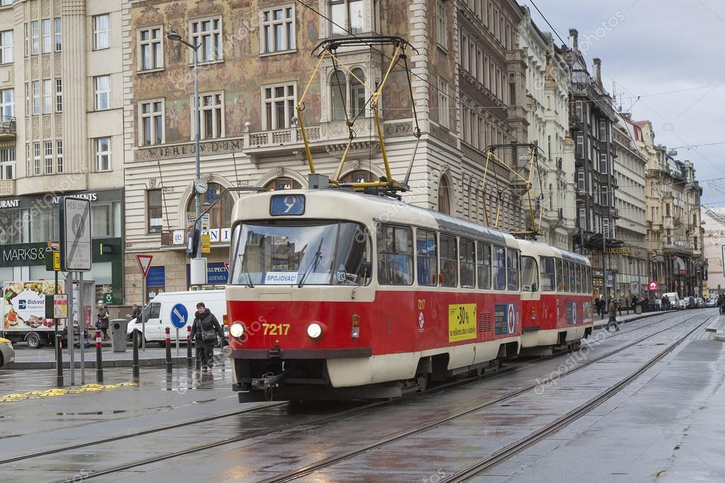Tram in Praga — Stock Photo