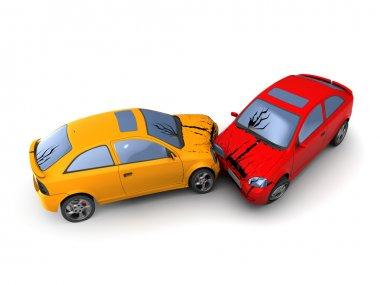 Road accident cars crash