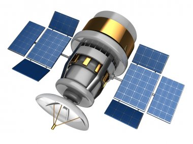 illustration of navigation satellite