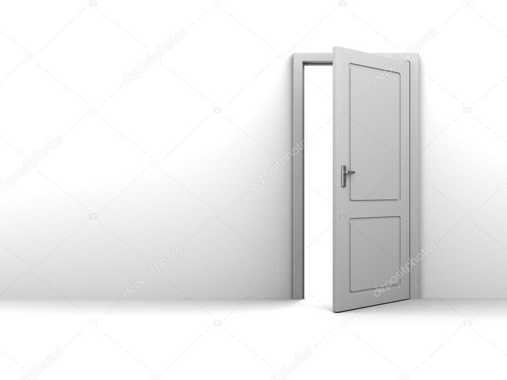 3d illustration of background with half open door and copy space u2014 Photo by mmaxer  sc 1 st  Depositphotos & half open door u2014 Stock Photo © mmaxer #114987470